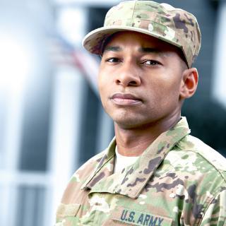Portrait of an Army man
